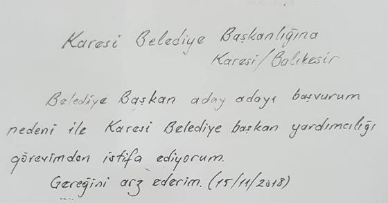 İSTİFA ETTİ, ÖRNEK OLDU!