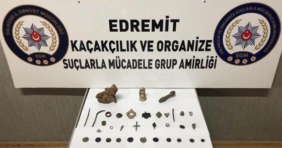 EDREMİT'TE TARİHİ ESER KAÇAKÇILIĞI