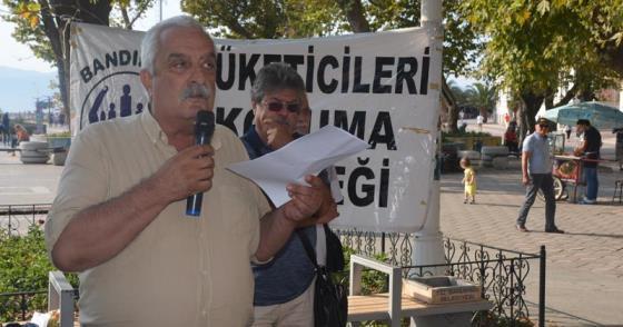 SU ZAMMI PROTESTOSUNDA SİYASİ PARTİLER YOKTU!