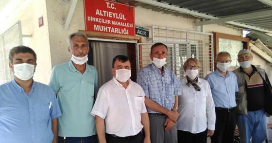 CHP ALTIEYLÜL'DEN MUHTAR VE ESNAF ZİYARETLERİ