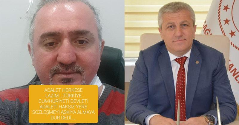 MÜDÜRÜ ALLAH'A HAVALE ETTİ, AÇIĞA ALINDI, DAVAYI KAZANDI