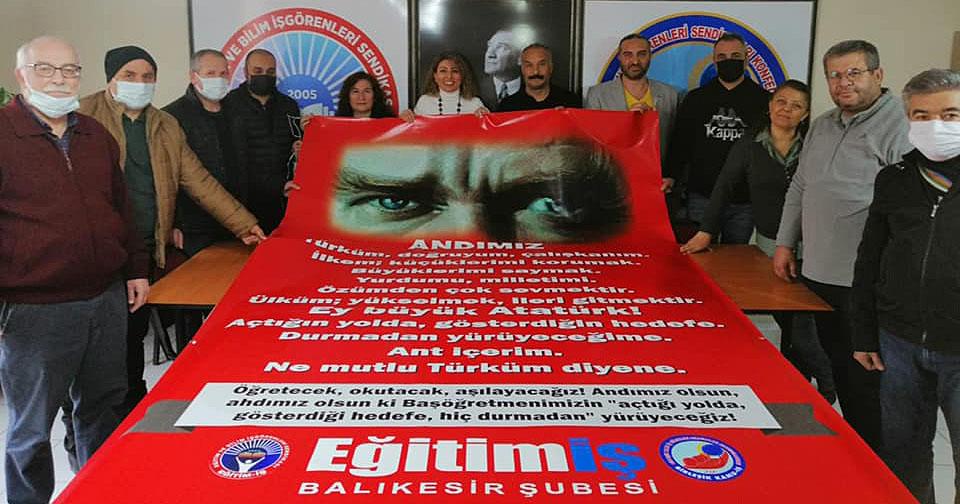 EĞİTİM-İŞ 'ANDIMIZ'A SAHİP ÇIKIYOR