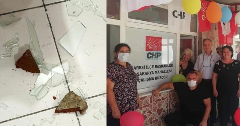 CHP'NİN ÇALIŞMA BÜROSUNA İKİNCİ SALDIRI