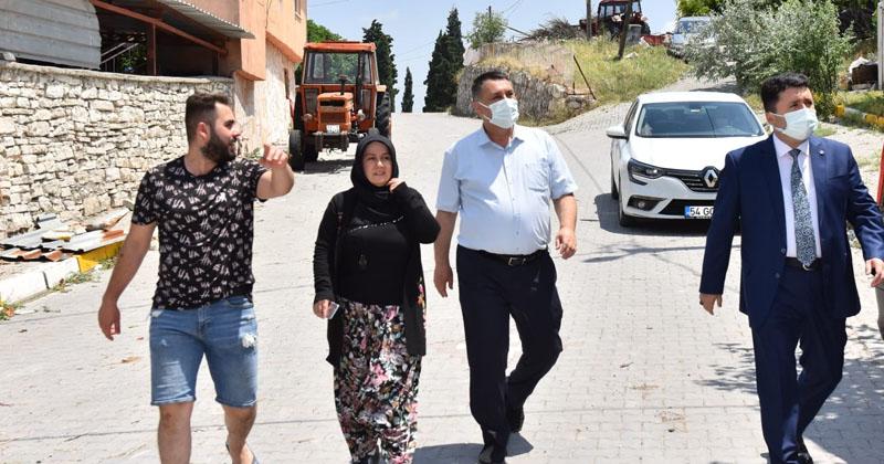 """BAŞKAN AVCI FIRTINA SONRASI KABAKLI'DA : """"YARALARI SARACAĞIZ"""""""